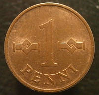 1 пенни 1969 года
