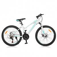 """Алюминиевый подростковый велосипед Profi G024A0243 Elegance AL 24""""."""