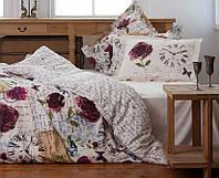 Двуспальное евро постельное белье KARACA HOME винтаж  PINK TIME