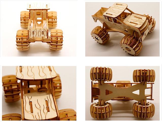 Конструктор деревянный 3Д пазл машина Монстер ТРАК