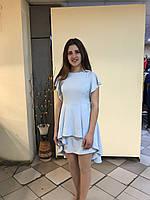 Женское платье, для девочки, цвет голубой, размер L, рукав фодра.