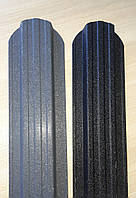 Штахетник металевий 115 мм 9005 мат, 7024 матовий 2-ох сторонній