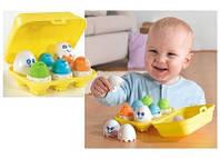 Дитяча Розвиваюча, Логічна Іграшка Сортер Забавні Яйця 6 штук, сортування кольору, форми, емоції Tomy