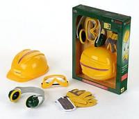 Дитячий Ігровий Безпечний Набір інструментів каска, рукавиці, окуляри, навушники з пластику Klein Кляин