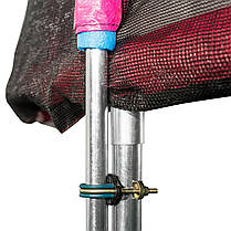 Батут Atleto 374 см з подвійними ногами з сіткою червоний (21000701), фото 3
