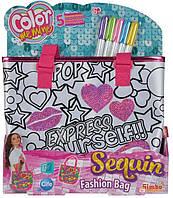 Дитячий Набір для творчості Сумочка-Рюкзак-Розмальовка для дівчаток, 5 перманентних маркерів, 28х7х34 см, Simba
