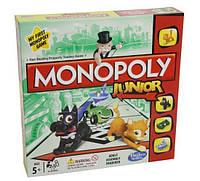 Детская Развивающая Экономическая Настольная Игра Моя Первая Монополия для 2-4 игроков Monopoly Junior Hasbro