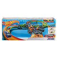 Детский Игровой набор Хот Вилс Конструктор трасс Грандиозные столкновения на несколько машин Hot Wheels Mattel