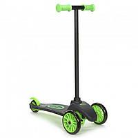 Детский Складной Трехколесный Самокат с силиконовыми колесами и прорезиненными ручками, зеленый, Little Tikes