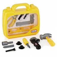 Дитячий Іграшковий Валізу з безпечними інструментами жовтий з прозорою кришкою 13 предметів Little Tikes