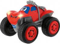 Детская Игрушка Машинка для мальчиков Джип на радиоуправлении красная со звуковым и световым эффектами Chicco