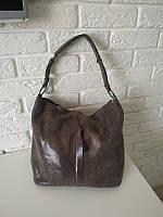 """Женская кожаная сумка с лазерным напылением   """"Лазерка Light Coffe"""""""