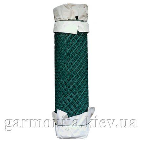 Сетка рабица с ПВХ покрытием 35х35х2.5мм, высота 1.5х10 м, зелёная, фото 2