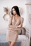 Коктейльное маленькое платье с длинным рукавом и пуговицами, 3цвета , р-р. 42-44,46-48  Код 4019Ж, фото 2