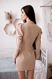 Коктейльное маленькое платье с длинным рукавом и пуговицами, 3цвета , р-р. 42-44,46-48  Код 4019Ж, фото 3