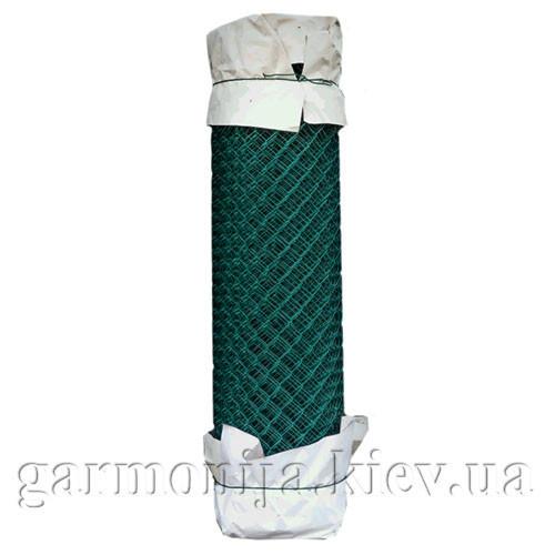 Сетка рабица с ПВХ покрытием 50х50х2.5мм, высота 1.5х10 м, зелёная
