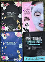 Тканевые угольные кислородные маски для лица Корейские в ассортименте Eyenlip SOO AE PUREDERM