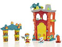 Детский Игровой Набор Для Мальчиков Пожарная Станция 4 разных пластилина с аксессуарами Плей До Play Doh
