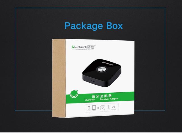 Bluetooth 5.0 беспроводной аудио приемник Ugreen для автомагнитол, колонок, муз.центров, дом.театров (без батареи)