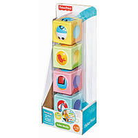 Дитячий Ігровий Розвиваючий Набір Диво-різнокольорові кубики з кулькою і мінливими картинками Fisher-Price