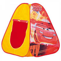 Детская Палатка Для Мальчиков Молния МакКуин водонепроницаемая желтая, Cars John Simba Симба, 75х75х90 см