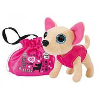 Детская Плюшевая Игрушка для Девочек Cобачка Чи Чи Лав Принцесса с розовой сумочкой-мешком Chi Chi Love Simbo
