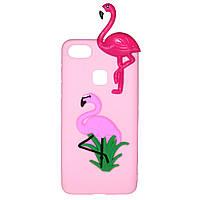 Чехол Cartoon 3D Case для Huawei P10 Lite Фламинго