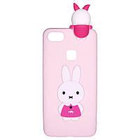 Чехол Cartoon 3D Case для Huawei P10 Lite Кролик