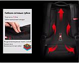 """Рюкзак мужской Tigernu T-B3143 городской с отделом для ноутбука 15.6"""" + ЗАМОК (черный), фото 9"""