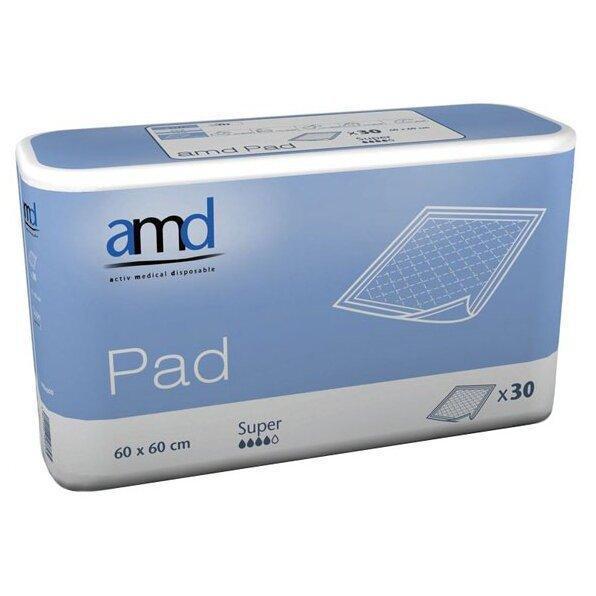 Гігієнічні пелюшки AMD Super Pad, 60 х 90 см, 30 шт