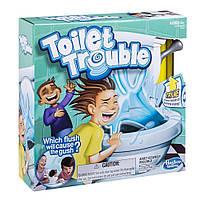 Детская Развивающая Настольная Игра Туалетное приключение с водой для 2 и более игроков Toilet Trouble Hasbro