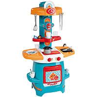 Детский Игровой Набор Для Девочек Моя первая кухня голубой с газовой плитой и раковиной Cooky Smoby Смоби