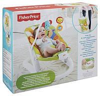Дитячий Портативний Шезлонг для малюків, легка вібрація, знімна дуга з іграшками, ремінь безпо. Fisher-Price