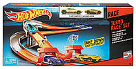 Детский Игровой Набор Хот Вилс Трек с двумя автомобилями Turbo Race Set 3 Speed Launcher Hot Wheels Mattel