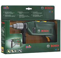 Детская Игрушечная Безопасная Дрель-Перфоратор с двумя ручками со звуковыми и световыми эффектами Bosh Klein