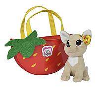 Детская Плюшевая Игрушка для Девочек Cобачка Чи Чи Лав Фруктовая мода с сумочкой и бантиком Chi Chi Love Simbo