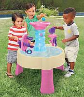 Дитяча Багаторівнева Конструкція Водний Столик Фонтан Спіраль рожевий з аксесуарами та 5 м'ячами Little Tikes