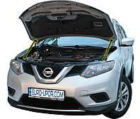Газовый упор капота (амортизатор капота) для Nissan Rogue / Ниссан Рог (2014+)