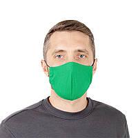 Защитная маска для лица многоразовая, зеленая, фото 1