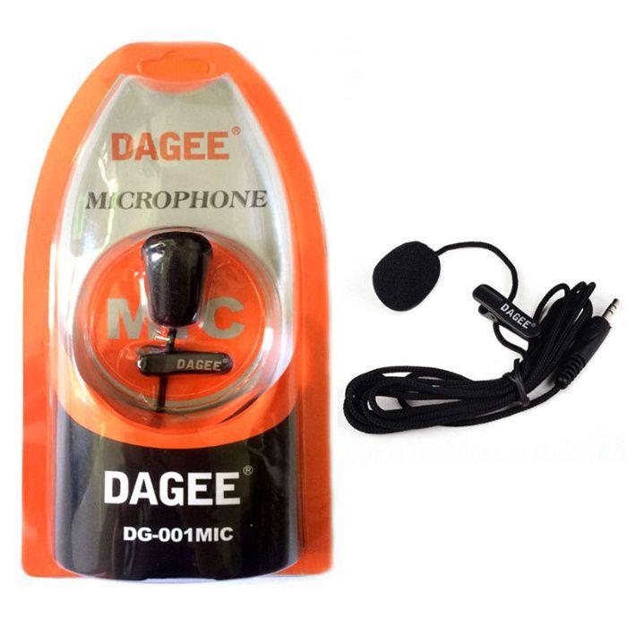 Петличный микрофон петличка Dagee DG-001 MIC для ПК, камеры, телефона