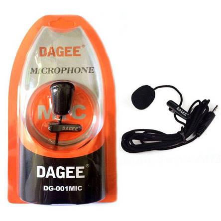 Петличный микрофон петличка Dagee DG-001 MIC для ПК, камеры, телефона, фото 2