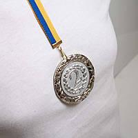 Медаль Д8Д Серебро с лентой.
