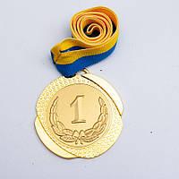 Медаль МА 082 Золото с лентой.
