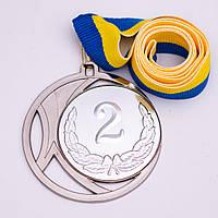Медаль МА083 серебро с лентой