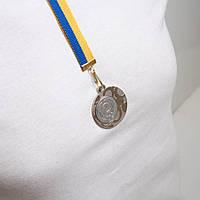 Медаль МА1140 Серебро с лентой.