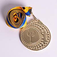Медаль МА305 Золото с лентой.