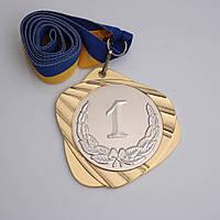 Медаль МА087 золото с лентой.