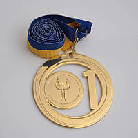 Медаль МА085 золото с лентой, фото 1