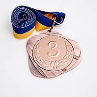 Медаль МА087 бронза с лентой.