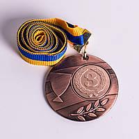Медаль МА235 Бронза с лентой.